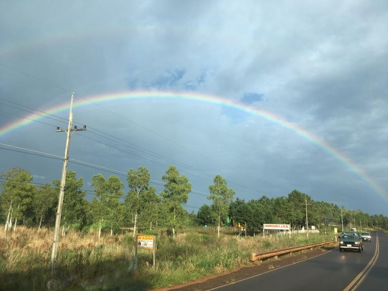 regenboog onderweg