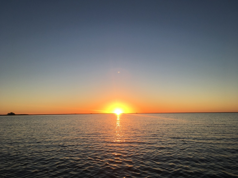 zonsondergang ibera